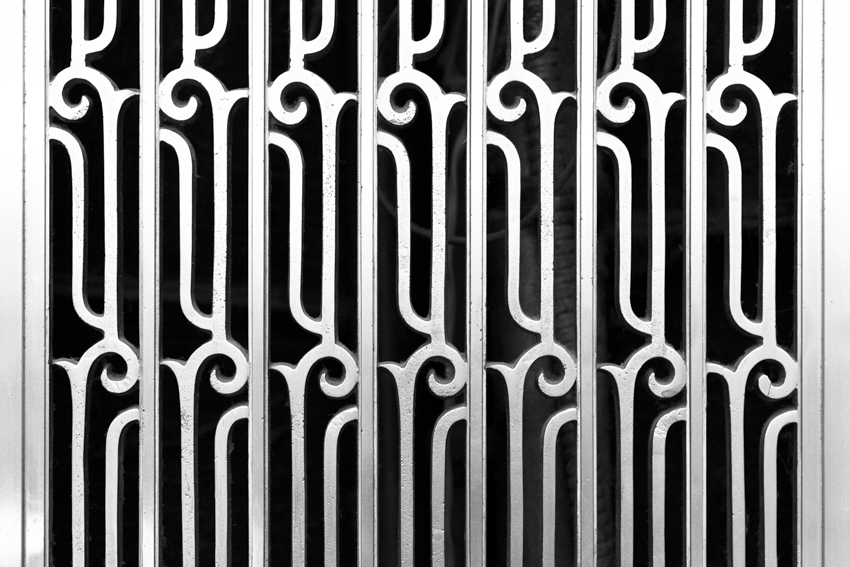 Art Deco design detail inside the elevator lobby of the Hard Rock Hotel Chicago