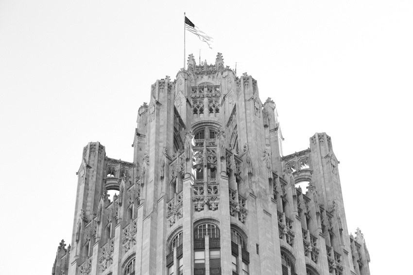 Top of the Chicago Tribune Tower