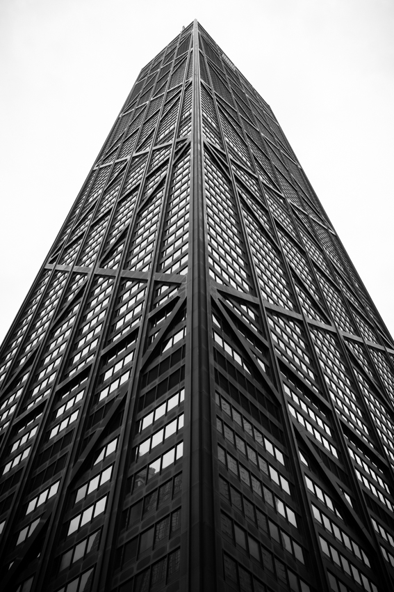 Building exterior of Chicago's John Hancock Center