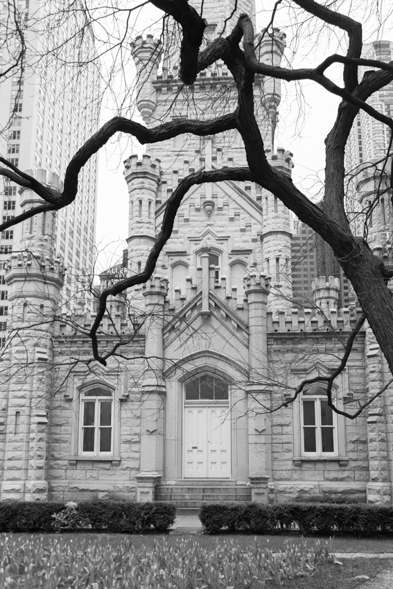 Historic building exterior of Chicago's Water Tower