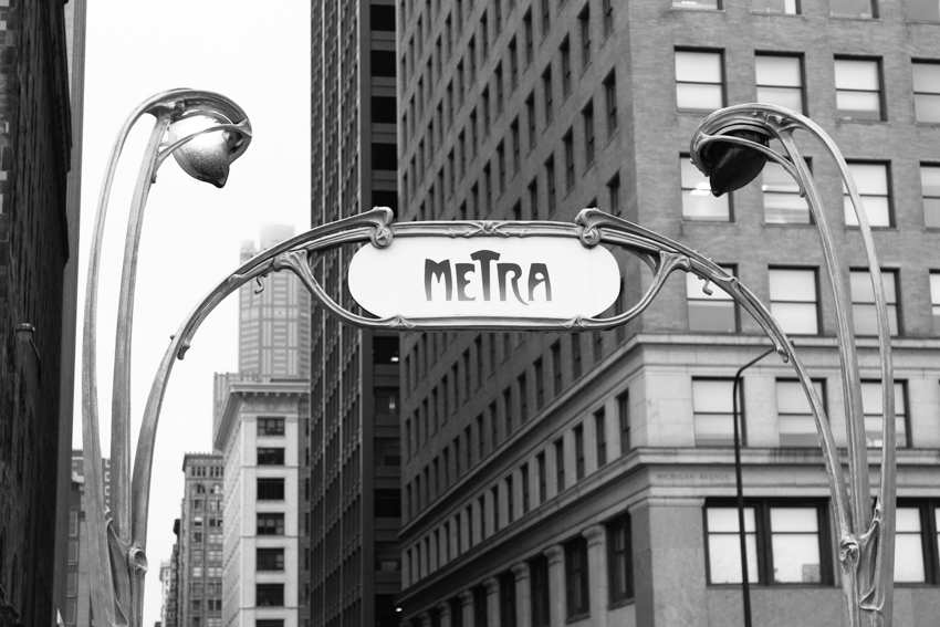 Chicago's Metra entrance