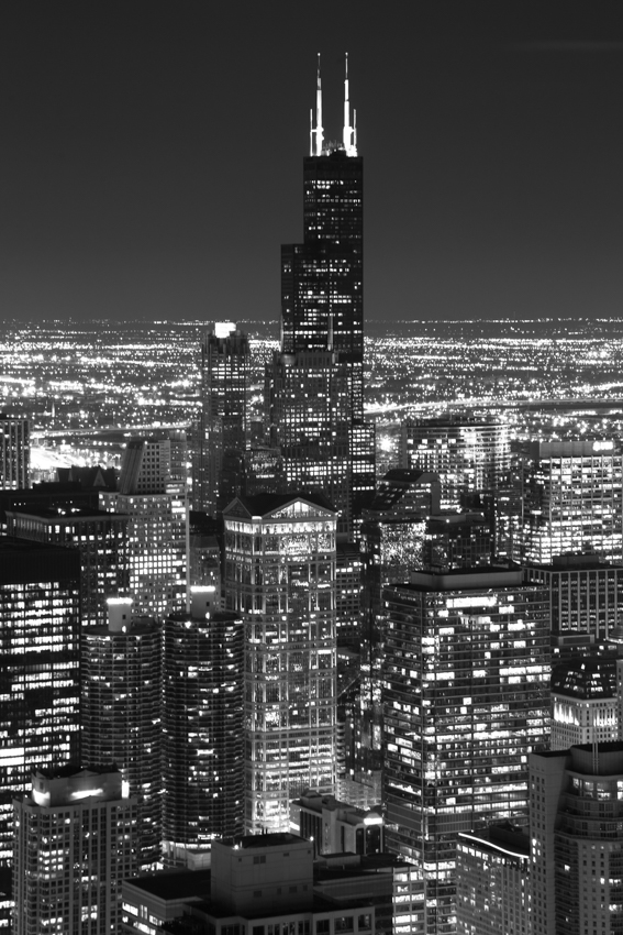 Willis Tower Chicago at night