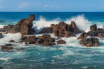 Rocky coast at Ho'okipa