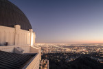 Griffith Observatory, blue hour over LA