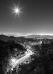 Griffith Park road at night