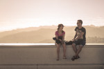 Griffith Observatory young couple