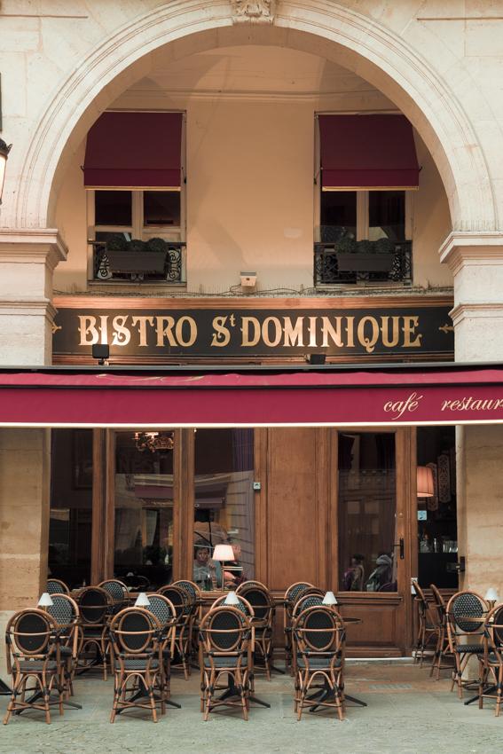 Terrace at bistro in Paris