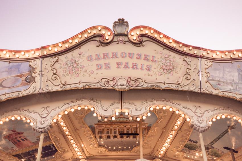 children's carousel in Paris