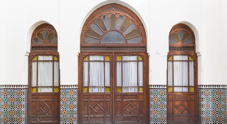 Doorway at Paris Grand Mosque