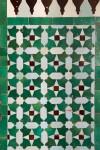 Green Mosaic Floor at Paris Grand Mosque