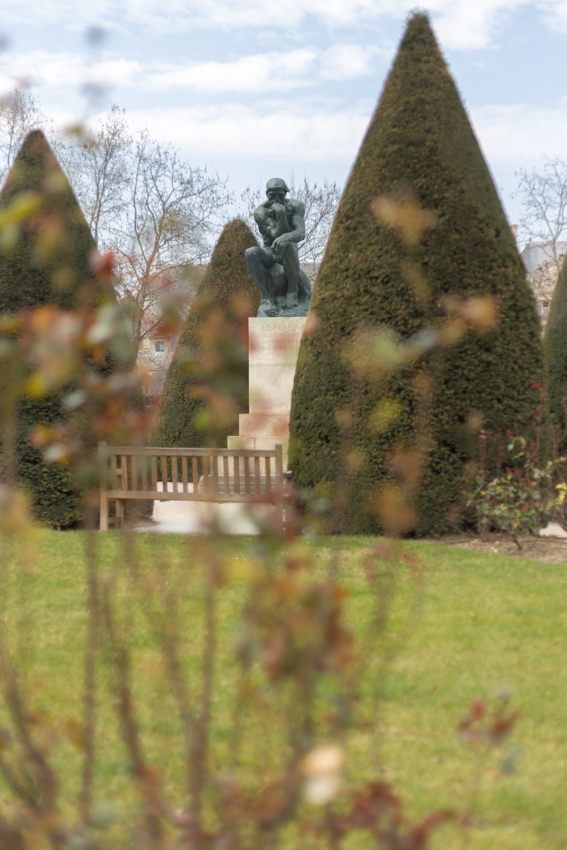 The Thinker in Rodin's Garden