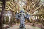 Kauai Hindu Monastery Lord Shanmuga Among Banyan Tree