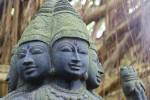 Kauai Hindu Monastery Lord Shanmuga Faces
